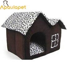 APAULAPET Крытый Дом для домашних животных двойная комната Собака Питомник для питомца щенка кота кровать зимняя одежда для собак дом для маленьких и средних собак