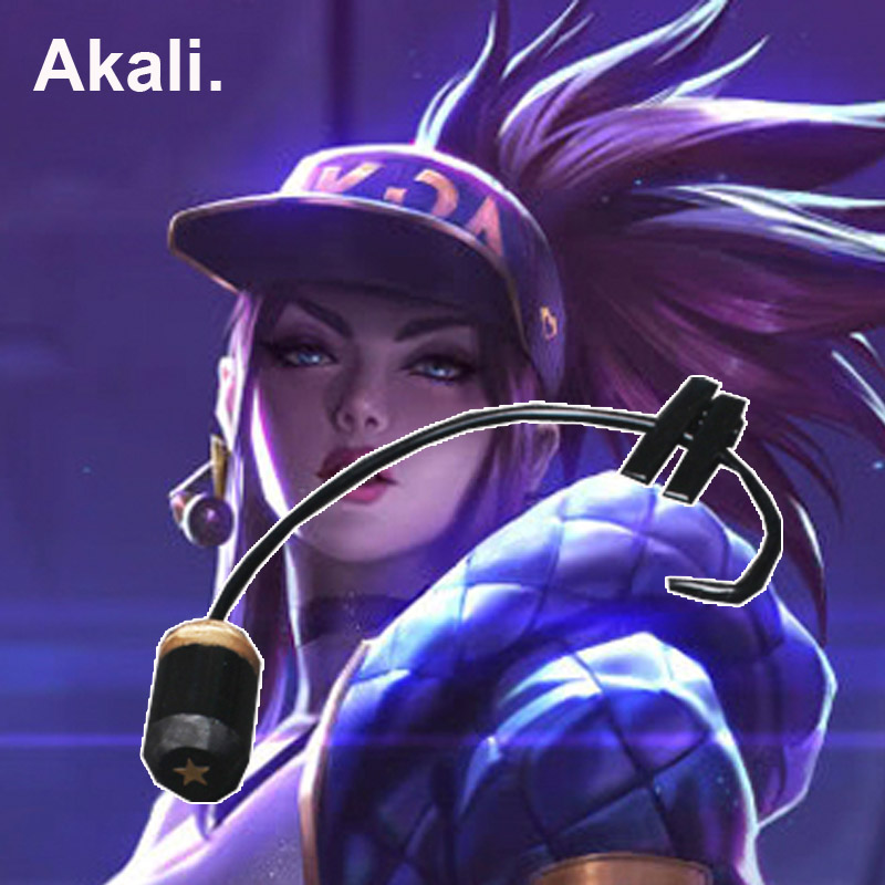 Costume Props New Gane Lol Kda Ahri Akali Kaisa Evelynn Cosplay Costume Props Earphones Cosplay Accessories