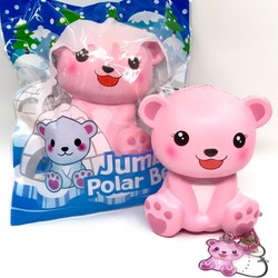 Original Puni maru Jumbo Polar bär Squishy Langsam Rising Weiche Kawaii Squishies original verpackung Kid Spielzeug Geschenk