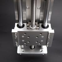 Ballscrews SFU1605 крест электрические раздвижные стол полезный ход 100 1000 мм XYZ оси SBR Колонка руководство для гравировальный машина