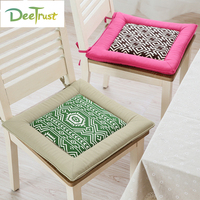Japan Style Cotton Geometry Pillow Color Square Car Chair Seat Cushion Thick Foam Throw Pillow Home