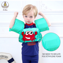 2-8 Years Children Swimsuit Boy Float Buoyancy Swimwear Girls Detachable Bathing Suit Protective Safe Learning Lesson Swimwear sabolay 2 8 years old baby buoyant swimwear floating girls quick drying one piece vest buoyancy swimsuit float kids swimming