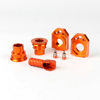 CNC Rear Chain Adjuster Axle Block Sets For SX SX F XC XC F 125 250 350 450 530 Motorcycle Dirt Bike Motocross Off Road