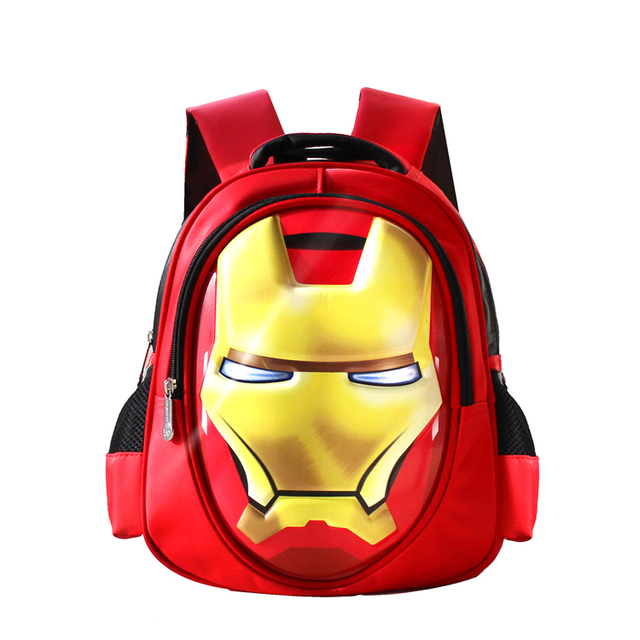 2cabb2975205 3D Avengers Iron Man Backpack Kids Children School Bags Schoolbag  Kindergarten Preschool Elementary School Backpacks for Boys