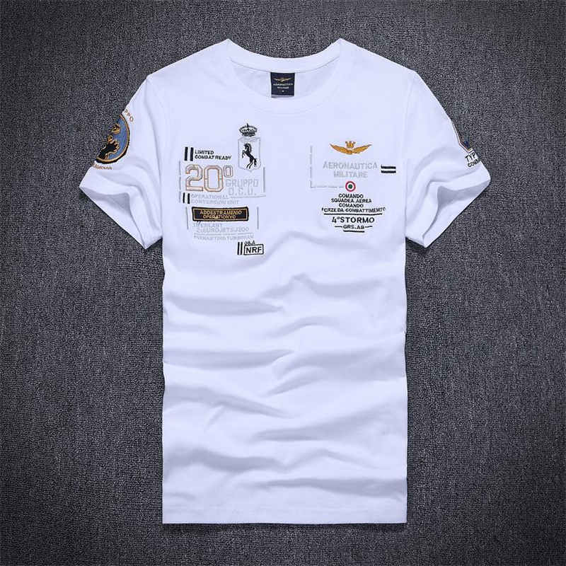 New 2019 Air Force one casual men   t     shirts   fashion o-neck cotton Embroidery men's tops men   T  -  shirt   short sleeve men tshirt