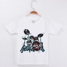 New Arrival 2019 Boys T-Shirts Kids Short Sleeve Tees Tops Shirt Drum Printing Boy Children T Cotton Girls Clothes