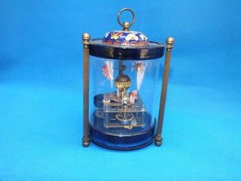 Rare brass Fish Mechanical Table Clock Decorations