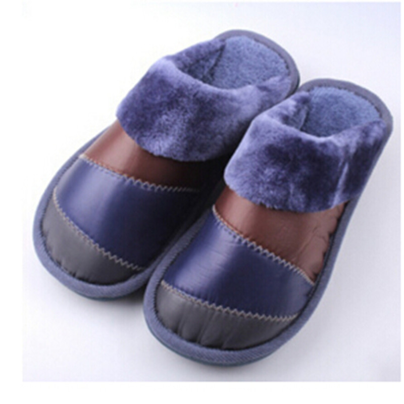 2016 Winter New House Slippers Waterproof Down Mix Colors