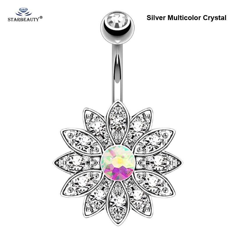 1pc puro loto opale anelli piercing ombelico piercing ombelico - Bigiotteria - Fotografia 6