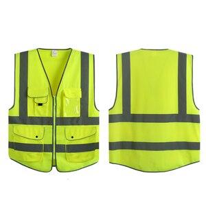 Image 4 - NL 20471 ANSI/ZEE Hoge Zichtbaarheid Rits Veiligheid Vest Met Reflecterende Strips bouw veiligheid reflecterende vest