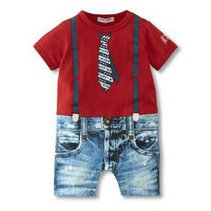 2016 Baby Boy Rompers Summer Baby Brand Clothing Sets Newborn Baby Clothes Gentleman Boy Jumpsuits Roupas Infantis Bebe Clothing