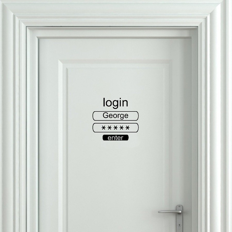 Special Login Design Door Decals Waiting For Others