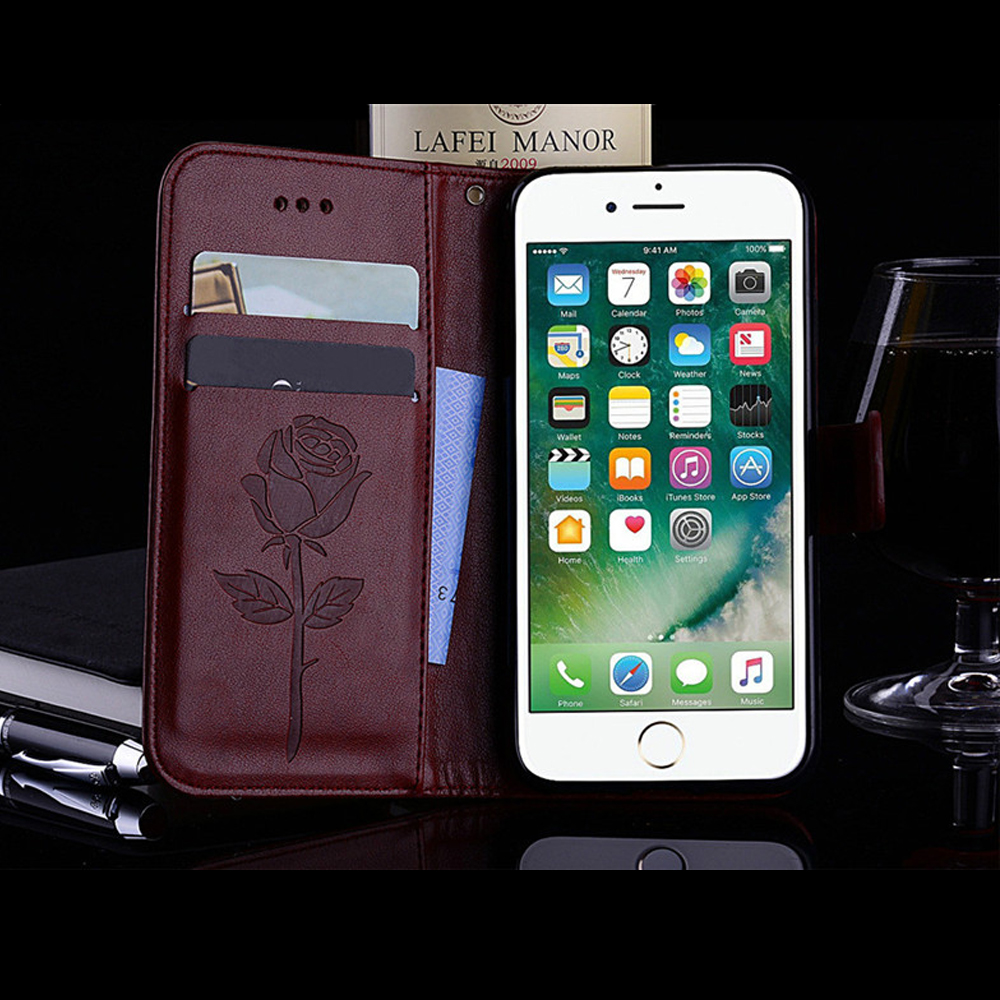 Case For iPhone 7 Bags PU Leather Wallet Flip Stand Style Cover With Card Holder Phone Bags For iPhone 7 8 Covers Cases