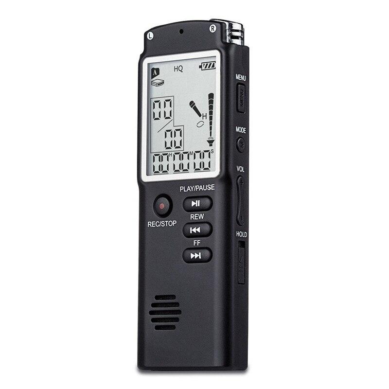 Sporting Neue Digital Audio Voice Recorder 8 Gb/16 Gb/32 Gb Schlüssel Lock-bildschirm Telefon Aufnahme Echt Zeit Display Mit Mp3 Player Hochglanzpoliert Tragbares Audio & Video Unterhaltungselektronik