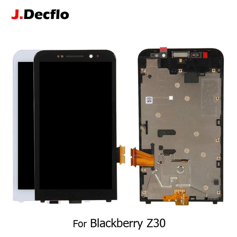 For BlackBerry Z30 4G LCD Display + Touch Screen Digitizer Assembly Replacement Parts With Frame Original Black or WhiteFor BlackBerry Z30 4G LCD Display + Touch Screen Digitizer Assembly Replacement Parts With Frame Original Black or White