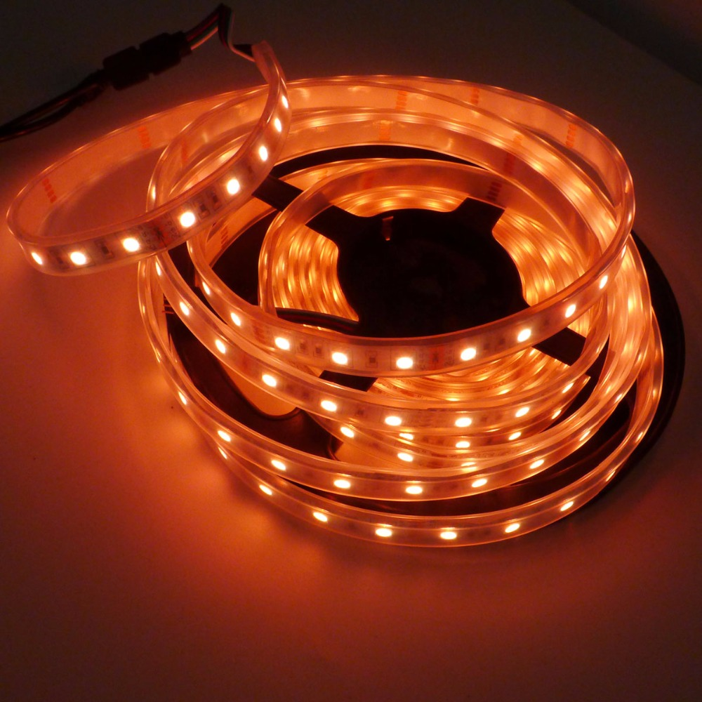 16.4ft AMBER Flexible Waterproof LED Strip Lights 5050 300LEDs LED Light Strip