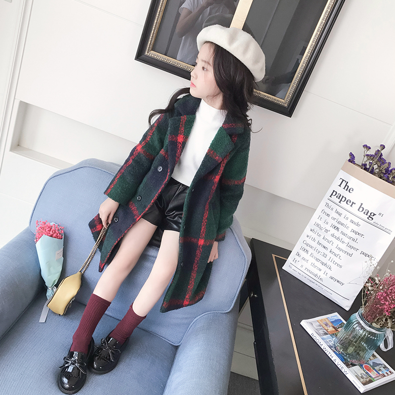 Girls In Autumn And Winter Long Wool Coat 2017 New Korean Female Child Thickened 9-12 Year Old Woolen Coat ewa przyborowska child labour and demographic transition in thailand