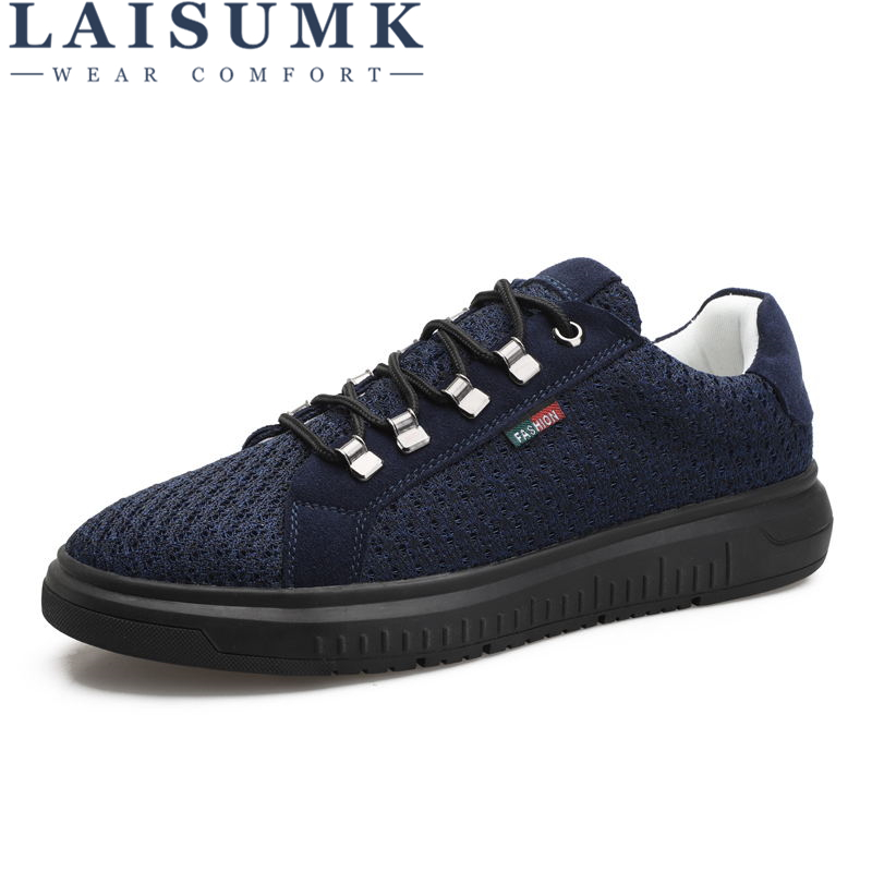 LAISUMK Spring Summer Casual Shoes For Men New Arrival Ventilation Fashion Sneakers Outdoors Tourism