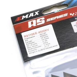 Image 3 - 4set/lot EMAX RS1106 II 4500KV 6000KV 7500KV MINI Brushless Motor RC FPV Racing MINI Violent Indoor Quadcopter