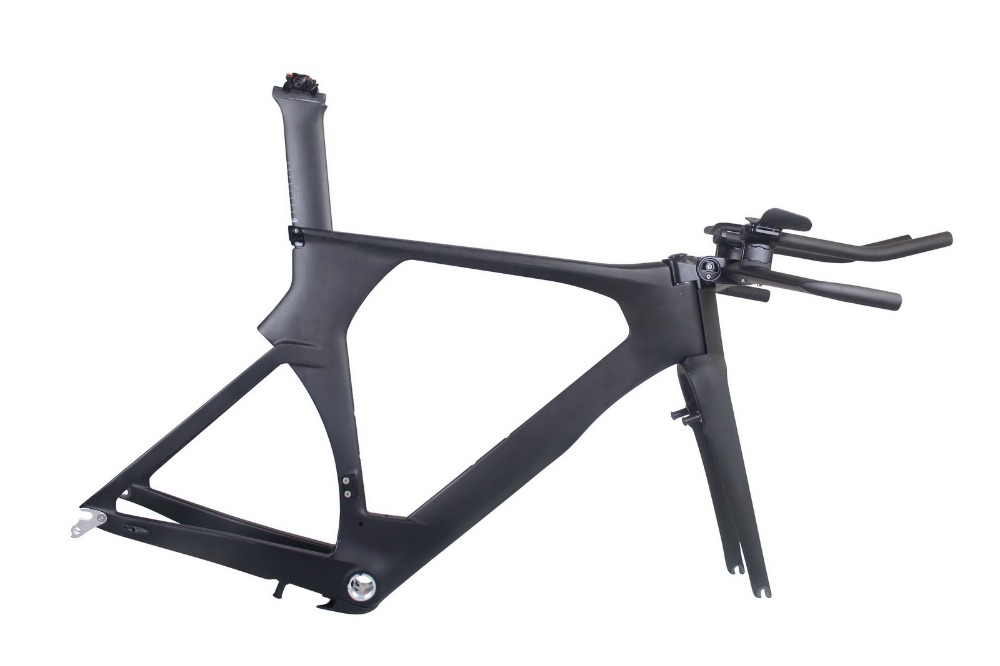 2019 Di2 Carbon TimeTrial Triathlon Frame 700C Ultralight Carbon Carbon TT <font><b>Bike</b></font> Frames <font><b>OEM</b></font> Carbon TT Bicycle Frameset image