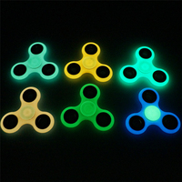 4 different Tri-Spinner Fidgets Toy Luminous and hybrid ceramic EDC Sensory Fidget Spinner For Autism ADHD Kids hand spinner toy