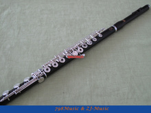 Professional Rare Material Flute-Silver Plated Keys-C foot--Open Hole-Split-E,Offset-G split hand split foot malformation