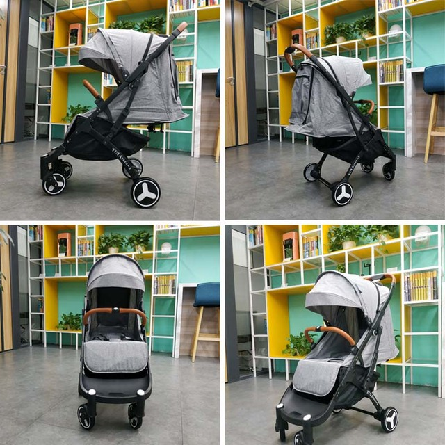 Lightweight Baby Stroller Folding White Frame – USA Only