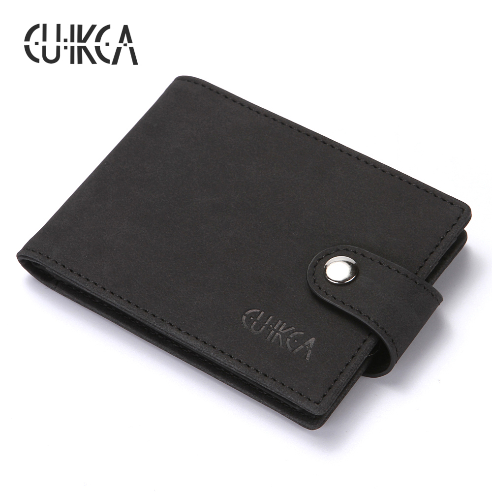 CUIKCA New RFID Women Men Card & ID Holders Nubuck Leather Hasp Slim Wallet Business License Card Case ID & Credit Card Holders 2018 pu leather unisex business card holder wallet bank credit card case id holders women cardholder porte carte card case