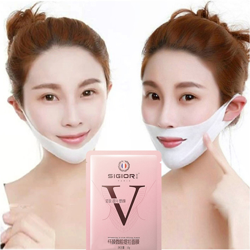 Lifting Facial Mask V Shape Face Slim Chin Check Neck Lift Peel-off Mask V Shaper Facial Slimming Bandage Mask Skin Care Beauty