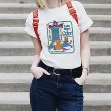 90s Винтажная футболка 80s одежда tumblr забавная футболка Женская Корейская Kpop Топы модная женская футболка позволяет начать культ футболки