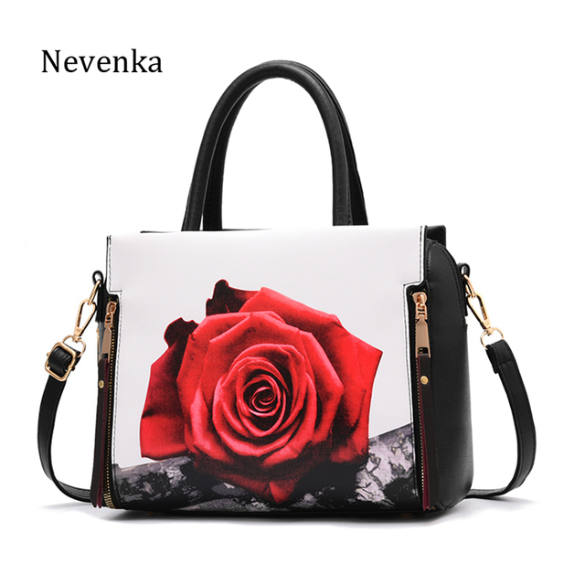Nevenka Handbag Women Floral Handbags Small Shoulder Bags Leather Crossbody Bag for Women Handbags Purses and Handbags 2018