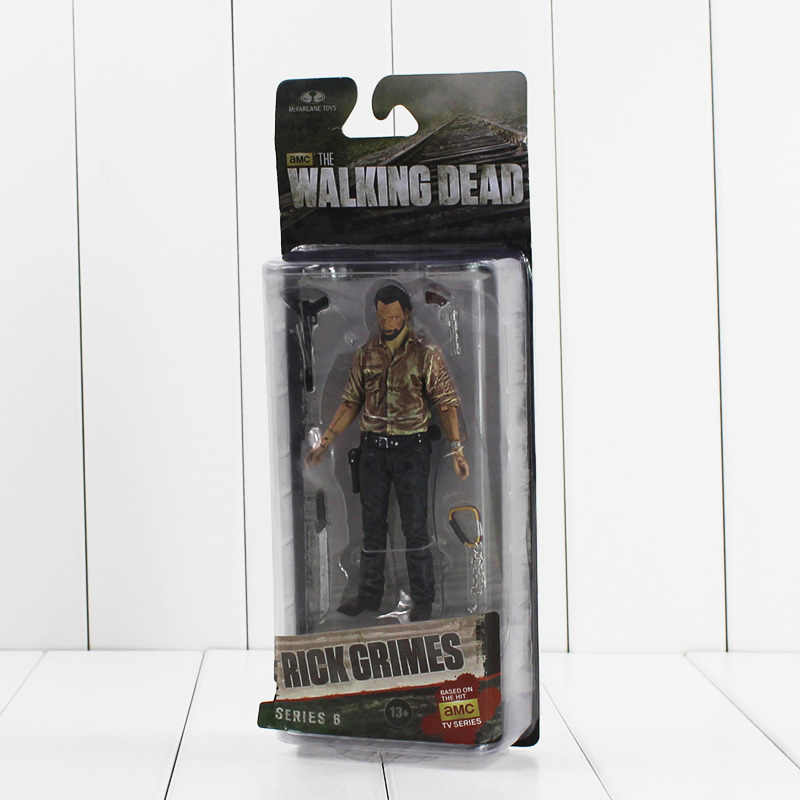 "5 ""13 cm NECA The Walking Dead Rick Grimes Série AMC TV Estatueta Ação PVC Modelo Figura Toy Collectible presentes para As Crianças"