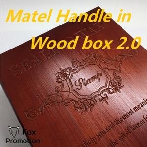 Image 3 - Nowa personalizacja pieczęć z drewniane pudełko, w stylu Retro lak zestaw znaczków, pokój typu Deluxe z prezent zestaw 26 alphets/kartkę z życzeniami słowa metalowy uchwyt