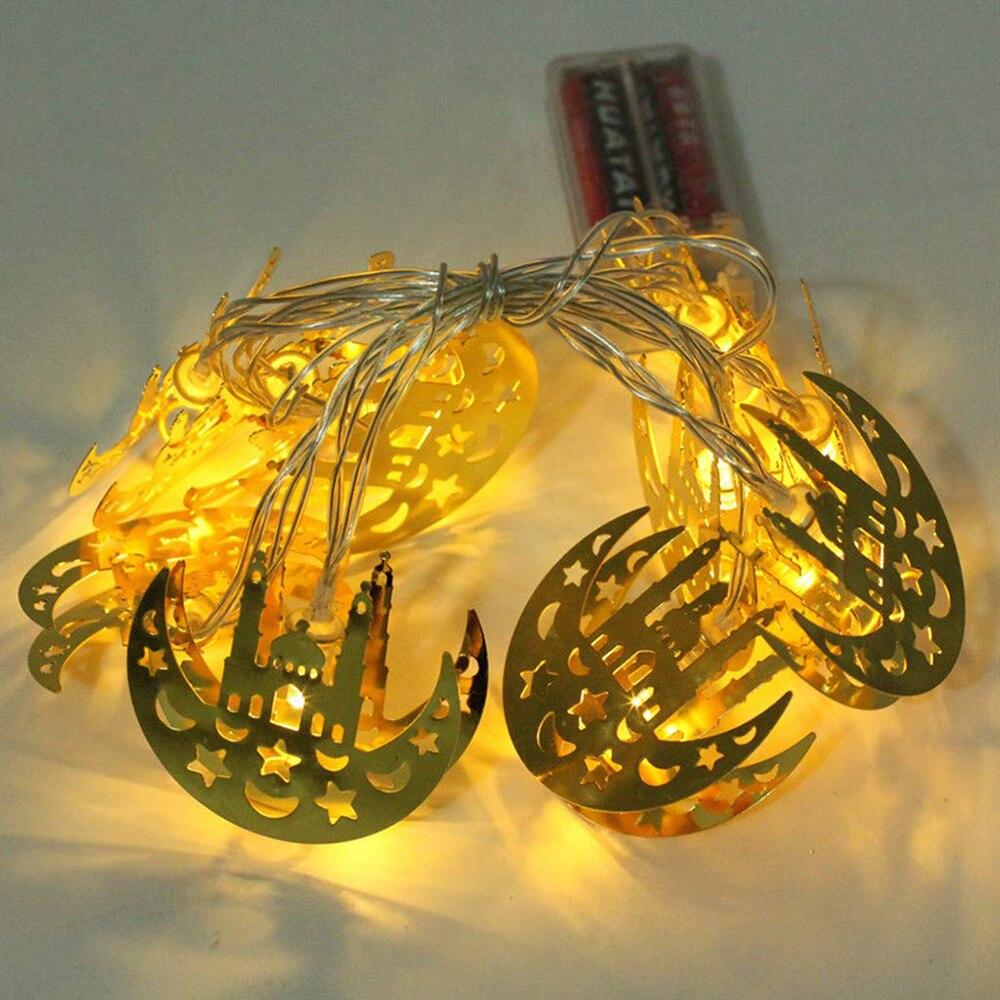 10/20 LED Ramadan Castle Moon String Lights Eid Islam Muslim Ramadan Decoration Lights For Wedding Christmas Party Holiday Light