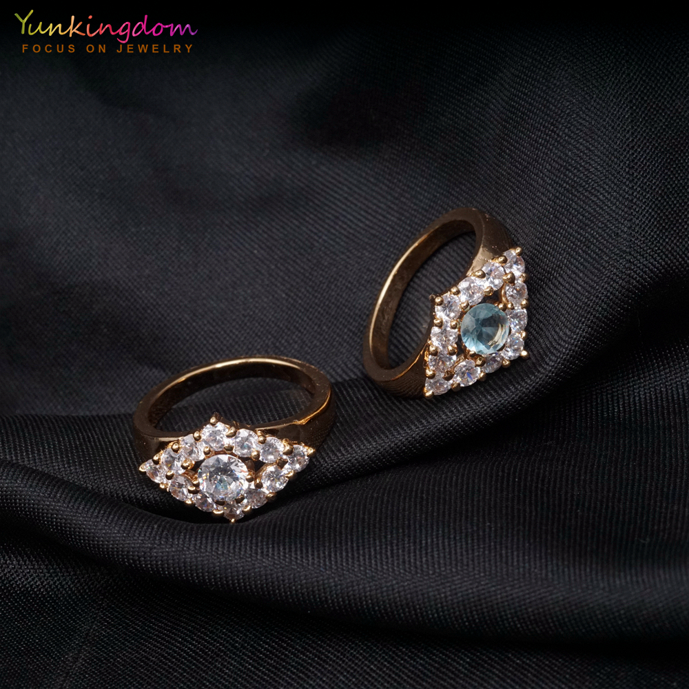 Fashion Rings-for-Women Fashion Wholesale Series Pave Crystals Jewelry Women Rings
