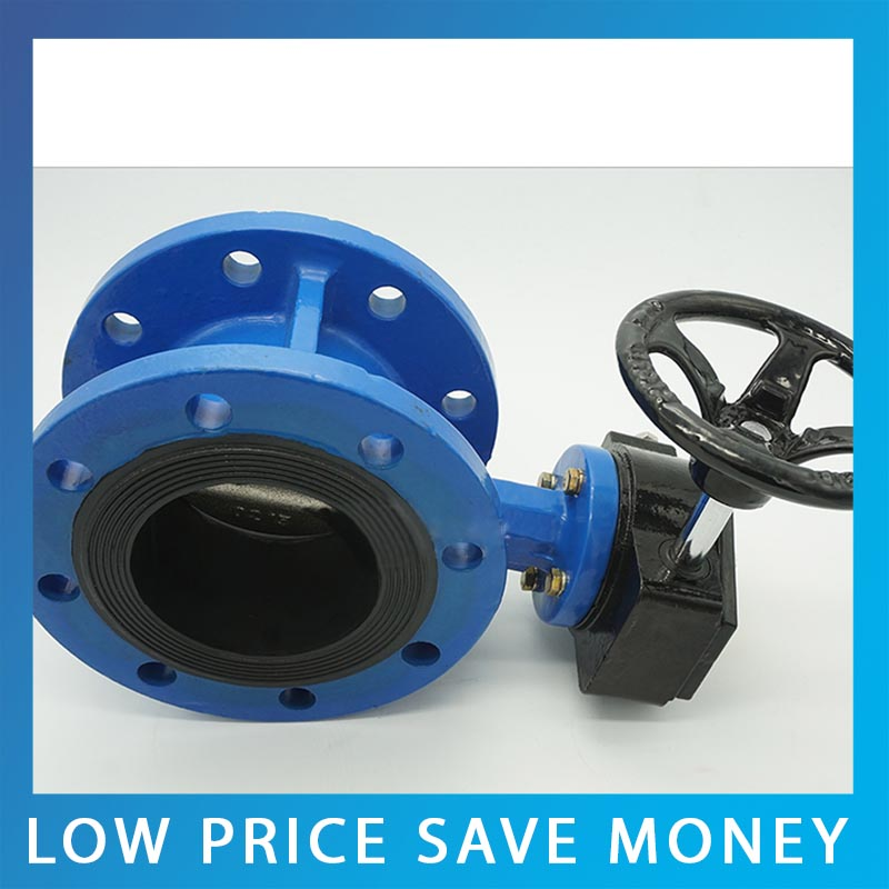 DN80 Manual Clamp Butterfly Valve GB Standard Cast Iron Flange Valve D341X-16Q Series цена