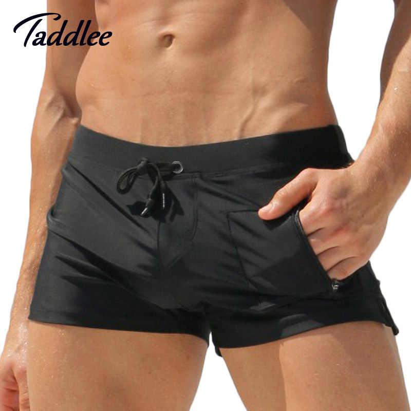 c80628ccfe8 Taddlee Brand Man Men Swimwear Men's Swimsuits Surf Board Beach Wear Man  Swimming Trunks Boxer Shorts