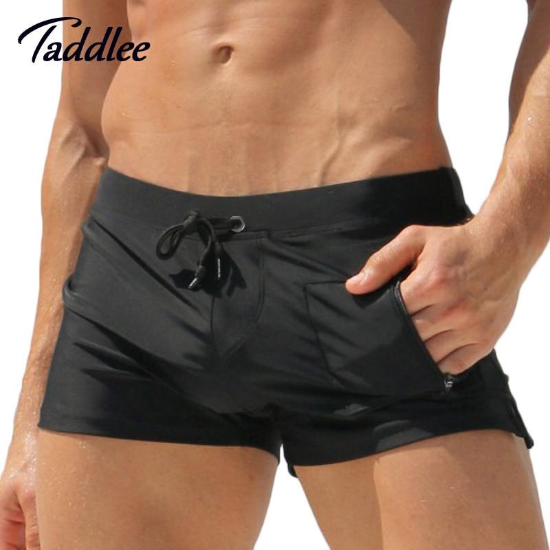 1504e12a3d Taddlee Brand Man Men Swimwear Men's Swimsuits Surf Board Beach Wear Man Swimming  Trunks Boxer Shorts Swim Suits Gay Pouch WJ