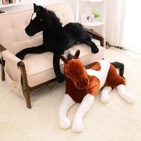 Big Size Simulation animal 70x40cm horse plush toy prone horse doll for birthday gift
