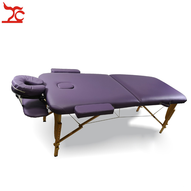 Foldable beauty spa massage bed portable furniture leather single bed lunch break reclining