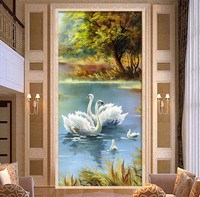 DIY 5D Diamond Mosaic Diamond Painting Cross Stitch Set Diamond Embroidery Scenery Home Decoration Swan Beautiful