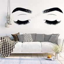 Wall Art Sticker Make Up Sticker Vinyl Lashes Eyelashes Extensions Decoration Removeable Poster Mural Beauty Salon Decal LY379 art wall sticker lashes salon eyelashes decor vinyl removeable beauty salon decoration make up extensions eyebrows decal ly265