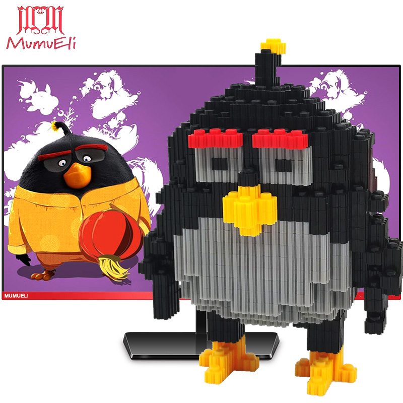 MUMUELI Angry Birds Bomb 1000-1500 Pieces DIY Game Figure 3D Model Kit Blocks Children Jigsaw Kids Building Resin Toys KL-HSF