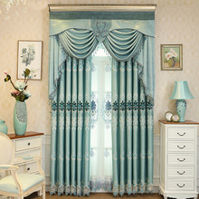 New High-shade High Quality Luxury Villa European Embroidery Living Room Bedroom Kitchen Curtains Home Decor