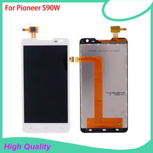 New Brand LCD Display Touch Panel For Pioneer S90W S90 90 Touch Screen White Color Mobile Phone LCDs Free Shipping