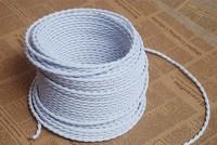 2 0 75mm 8M Edison Vintage Textile Cable Electrical Wire Twisted Cable Retro Textile Pendant Light