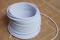 2*0.75mm 8 M Edison Vintage Textile Câble Fil Électrique Câble Torsadé Rétro Textile Pendentif Lumière Fil Tissu Vintage Cordon De La Lampe