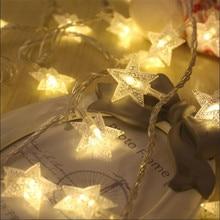 EU plug 5M 28LED Star String Lights LED Fairy Christmas Wedding Kitchen Festival decoration  twinkle lights