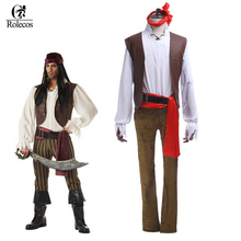 Fantasy Cosplay Jack Sparrow Pirate Halloween Costumes Pirate Carnival Costume Cosplay Party Clothing for Adult