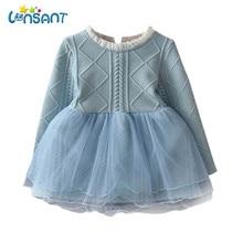 877423ebb77e8e LONSANT 2019 Winter Baby Meisjes Gebreide Trui Jurk Fashion Leuke Vestido  Roupa Infantil Menina Patry Jurken